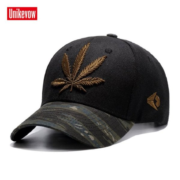 High quality Baseball Cap Unisex Sports leisure hats leaf embroidery sport cap for men and women hip hop hats 2