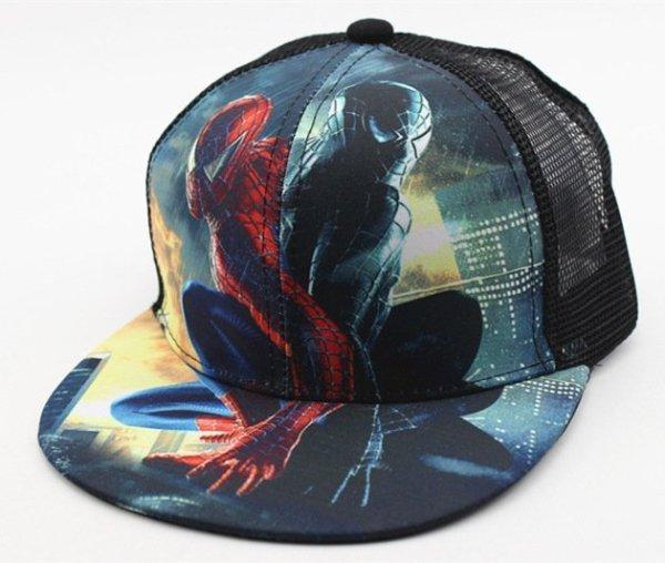 Hot Sale Children Cartoon Colorful  Superman Batman Adjustable Kids Baseball Snapback Cap  Unisex  Hip Hop Hats 8