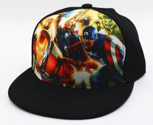 Hot Sale Children Cartoon Colorful  Superman Batman Adjustable Kids Baseball Snapback Cap  Unisex  Hip Hop Hats 26