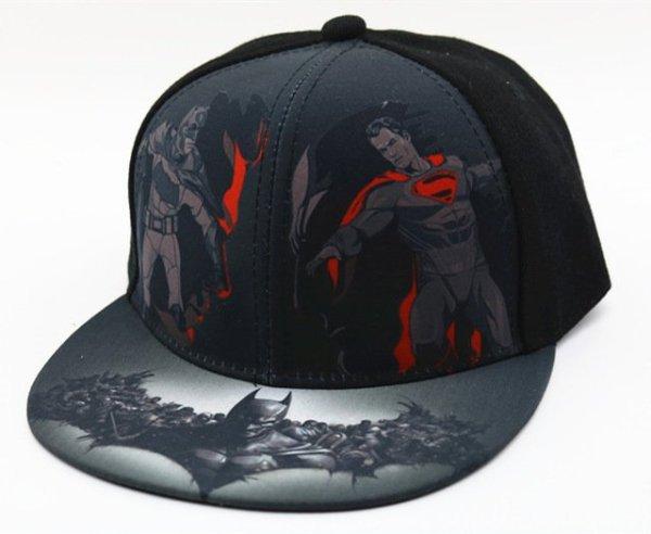Hot Sale Children Cartoon Colorful  Superman Batman Adjustable Kids Baseball Snapback Cap  Unisex  Hip Hop Hats 30