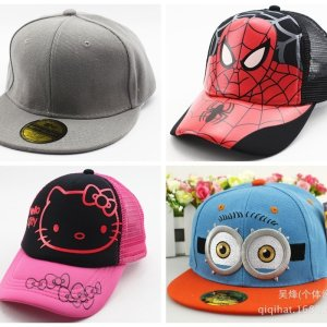 8e6708c9600 Hot Sale Snapback Summer Cartoon Baseball Cap Kids Baby Girls Adjustable  Caps Fashion Children Hip-Hop Hat