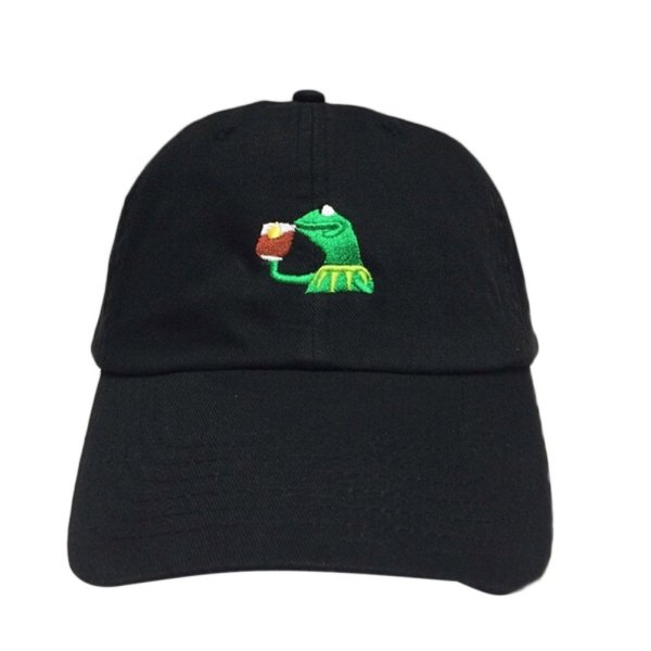 KERMIT NONE OF MY BUSINESS UNSTRUCTURED DAD HAT CAP FROG TEA LEBRON JAMES NEW casquette kenye west ye bear dad cap Big Daddy hat 1