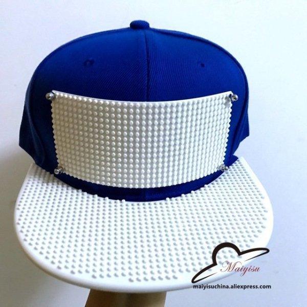 Mosaics Custom LOGO Brick baseball cap Building toy customize blocks ... 99cefd2fdcfb