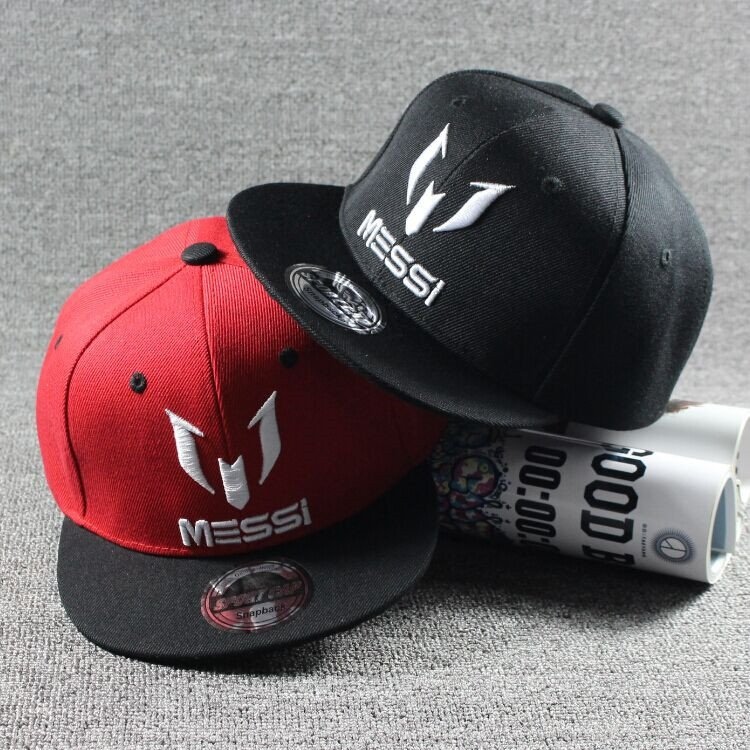 387889f4d21 New Arrival Kids MESSI Embroidery Cotton Snapback Caps Hip Hop Hats  Boys Girls Children Cartoon Baseball ...
