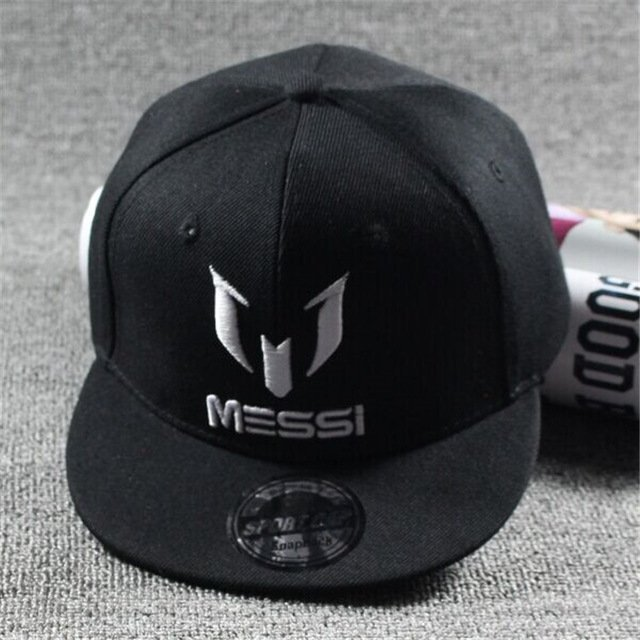 c2940847256 New Arrival Kids MESSI Embroidery Cotton Snapback Caps Hip Hop Hats ...