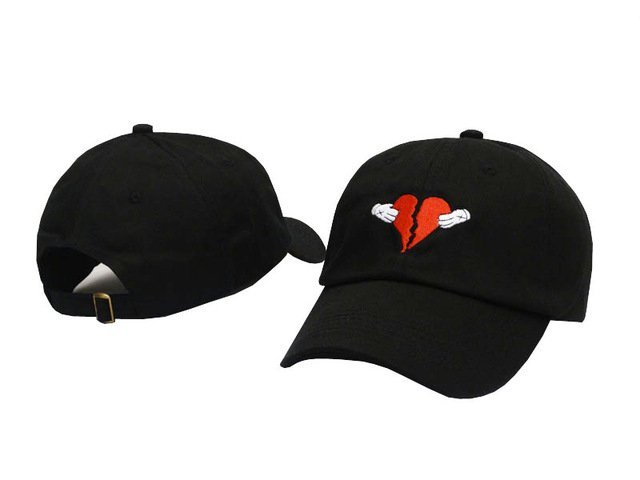 Newest Kanye West Heart Break Album Cap Trend Hip Hop Dad Hat ... 793e1fa2702