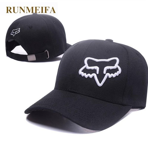 RUNMEIFA New Racing Cap Solid Color Fox Pattern Print Canvas Cap For Adult Outdoor Sports Adjustable Basketball Hat Casquette 1