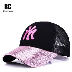 48beb973 [Rancyword] 2017 New Branded Baseball Caps Canada Women's Cap With Mesh  Bone Hip Hop Lady Embroidery Hats Sequins RC1134