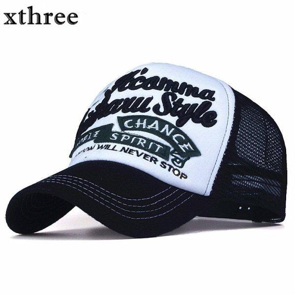 Xthree New 5 panels embroidery summer baseball cap casual mush cap men snapback hat for women casquette gorras 1
