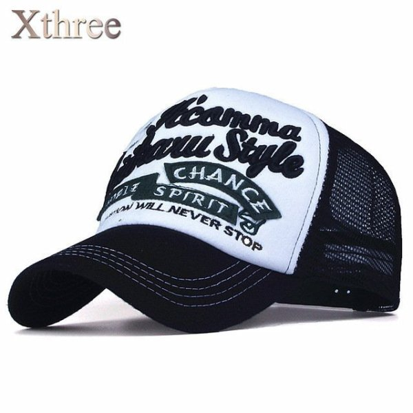 Xthree New 5 panels embroidery summer baseball cap casual mush cap men snapback hat for women casquette gorras 7