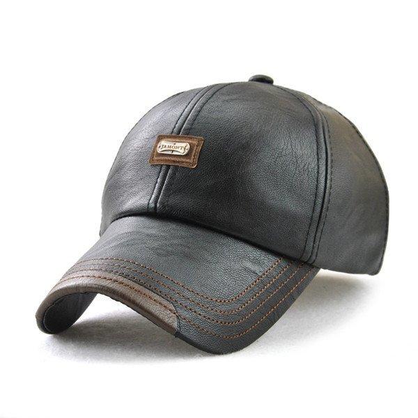 Xthree New fashion high quality faux leather Cap fall winter hat ... 83fb3d8f839f