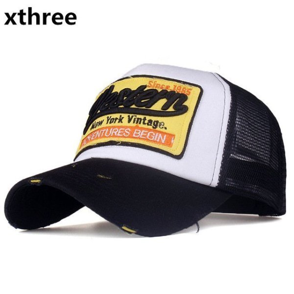 [Xthree]summer snapback hat baseball cap mesh cap cheap cap casquette bone hat for men women casual gorras 7
