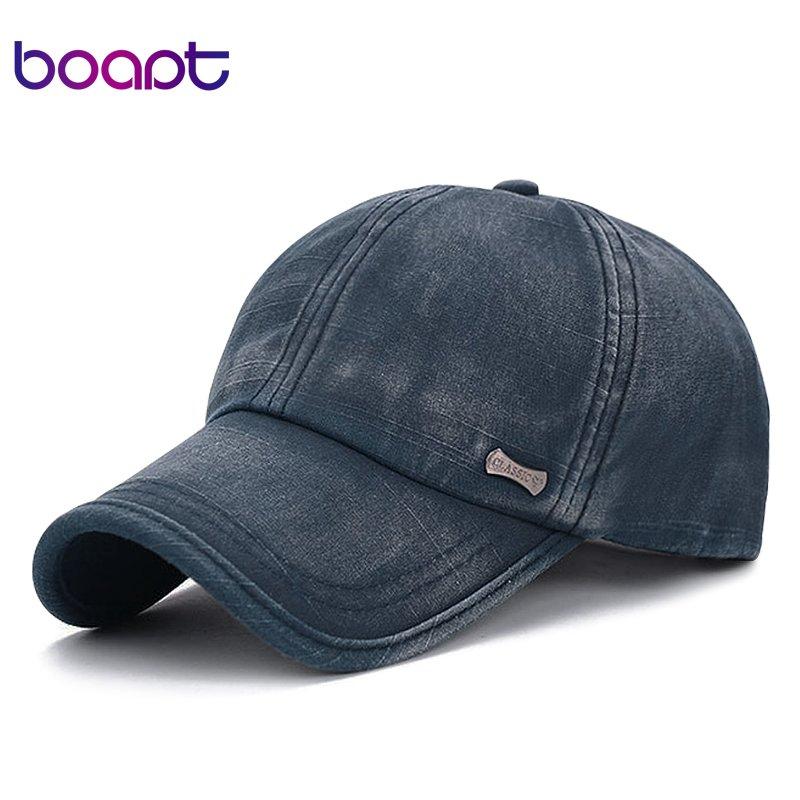 7c52e0767dc  boapt  classic fashion metal label cotton men baseball caps summer  snapback cap ...
