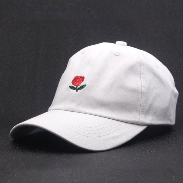 100% Cotton Rose embroidery hat black cap Blank snapback hip hop dad cap designer hats men women Visor hat skateboard gorra bone 8