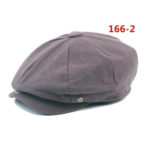 octagonal cap winter male British style retro linen painter hat solid color stitching fashion hat 16