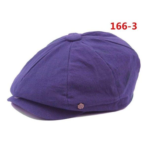 octagonal cap winter male British style retro linen painter hat solid color stitching fashion hat 18