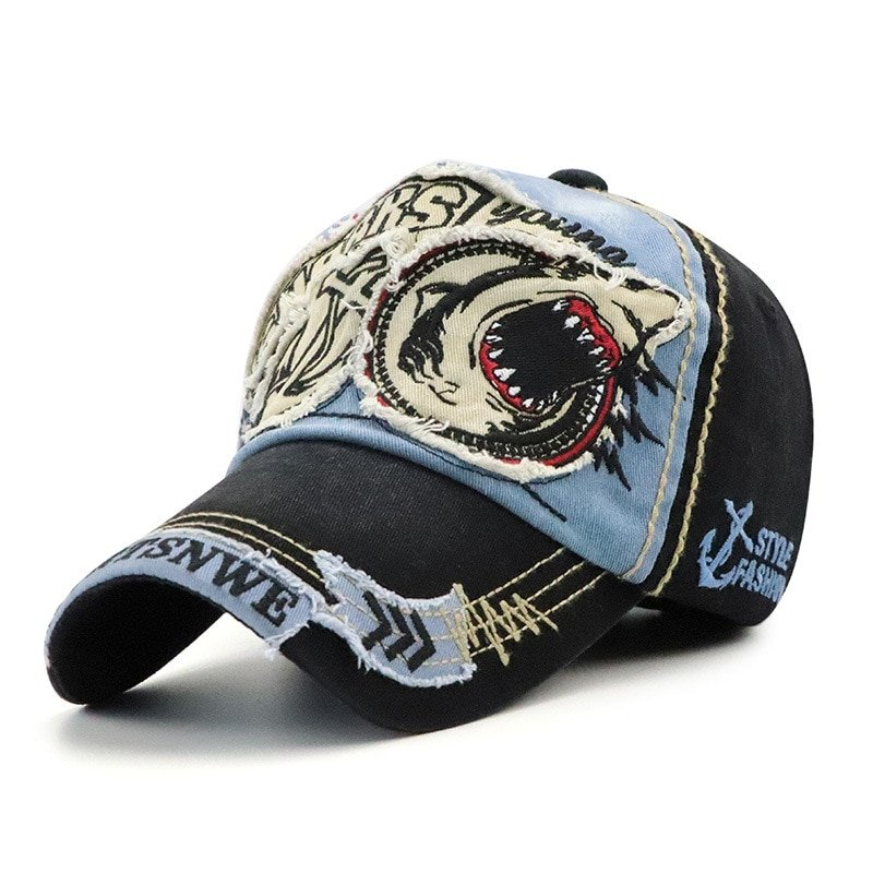 2018 Brand Shark Baseball Caps For Men Women Fashion Hats Casual ... dff670e8bc5