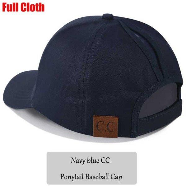 9858661a 2018 CC Glitter Ponytail Baseball Cap Women Snapback Hat Summer ...