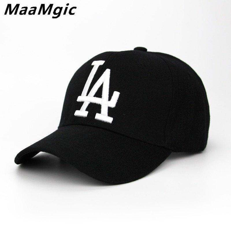 d625ff3a47a 2018 New letter Baseball Caps LA Dodgers Embroidery Hip Hop bone Snapback  ...