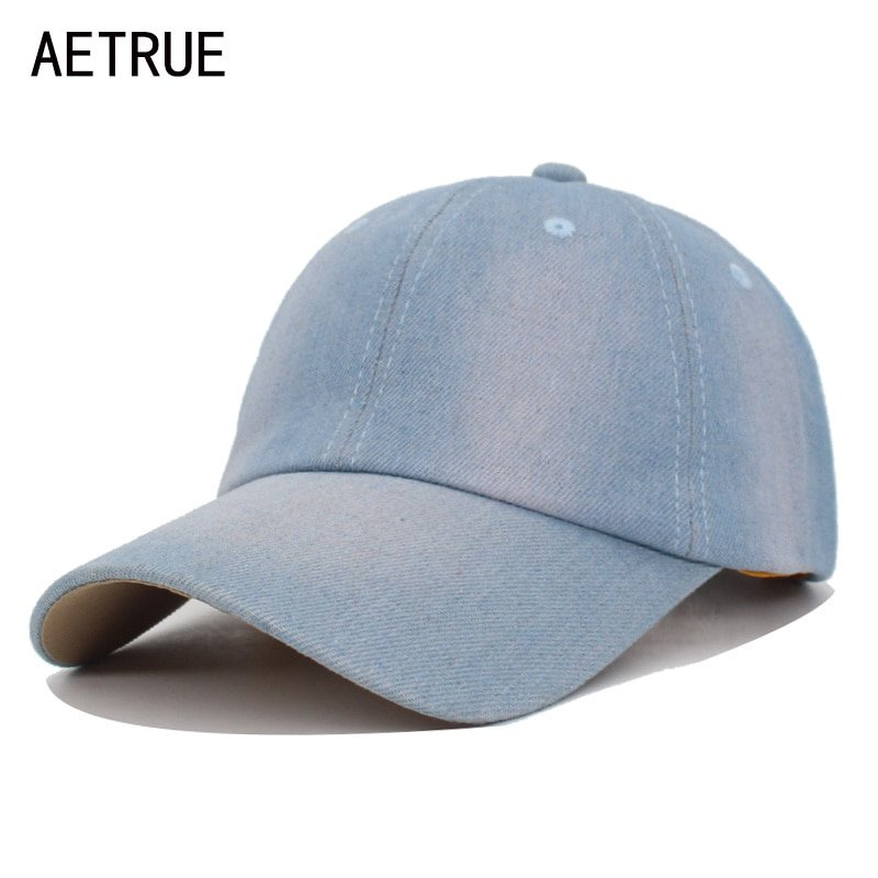 AETRUE Washed Jeans Baseball Cap Men Dad Snapback Hats Caps For ... dda6963d494