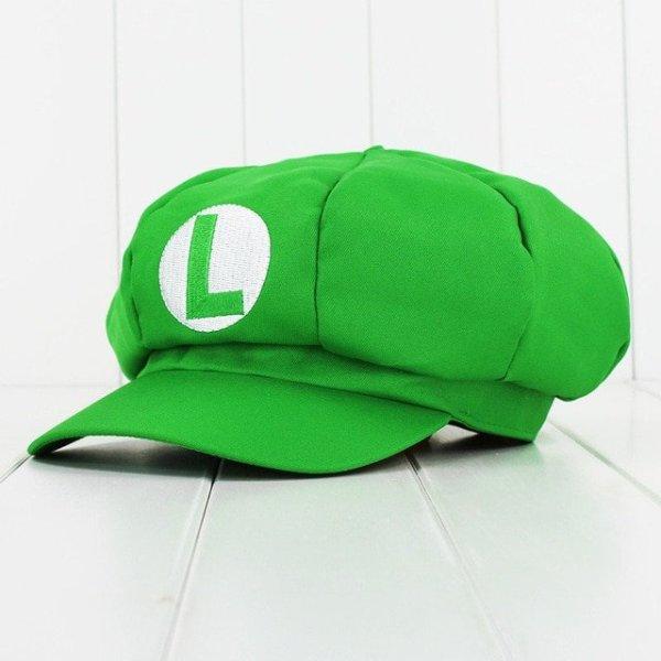 Anime Super Mario Hat Cap Luigi Bros Cosplay Baseball Costume 8