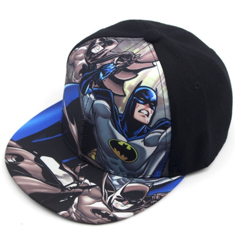 7b0a0baab75 Children Baseball Cartoon Anime Super Hero Superman Batman Caps Boy ...