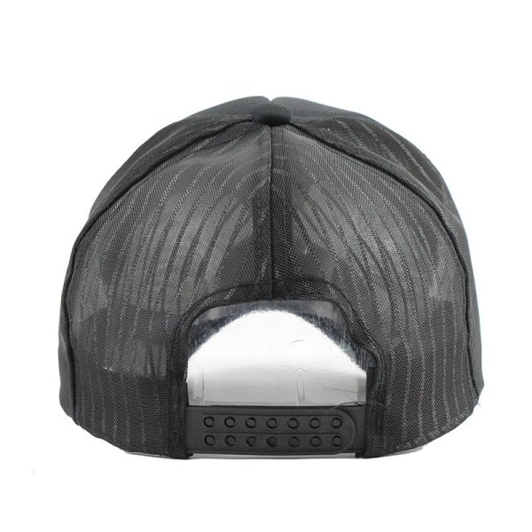 Hip Hop Black leopard Print Curved Baseball Caps Summer Mesh Snapback Hats For Women Men casquette Trucker Cap 4