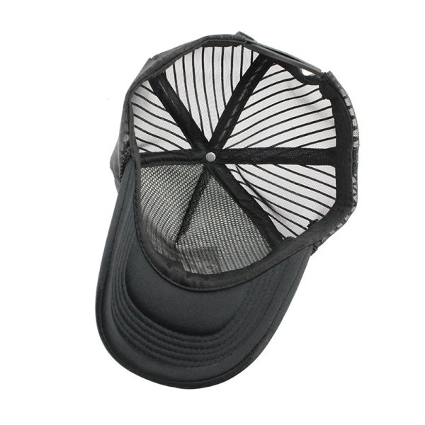 Hip Hop Black leopard Print Curved Baseball Caps Summer Mesh Snapback Hats For Women Men casquette Trucker Cap 5
