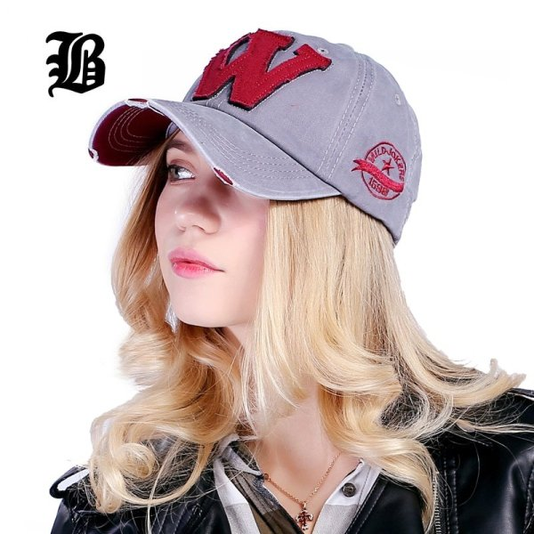 [FLB] Cotton Embroidery Letter W Baseball Cap Snapback Caps Bone casquette Hat Distressed Wearing Fitted Hat For Men Custom Hats 3