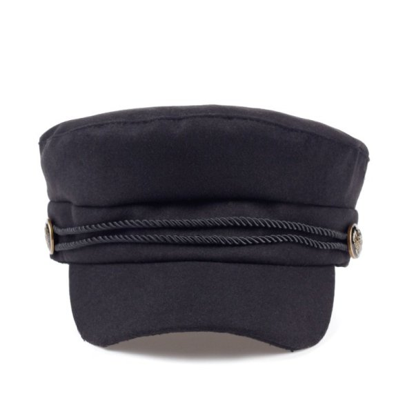 Fashion Blank Black High Quality Newsboy Caps for Women Spring Autumn Winter Hats Felt Cap Winter Ladies Black Hat Beret Cap 2