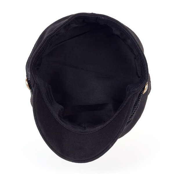 Fashion Blank Black High Quality Newsboy Caps for Women Spring Autumn Winter Hats Felt Cap Winter Ladies Black Hat Beret Cap 5
