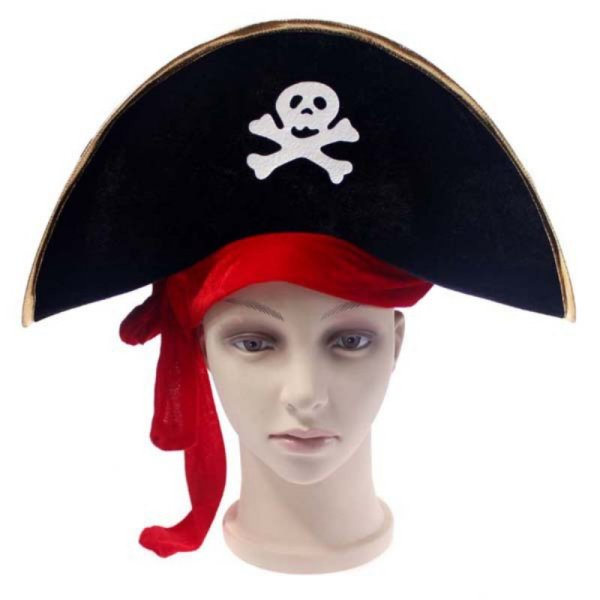 New Arrival Halloween Accessories Skull Hat Caribbean Pirate Hat Piracy Hats Corsair Cap Party Props Cosplay Costume Theater Toy 2