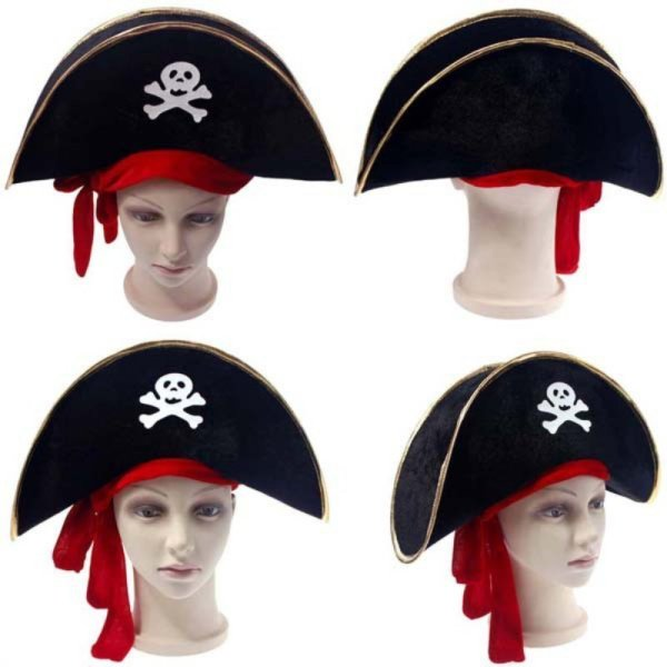 New Arrival Halloween Accessories Skull Hat Caribbean Pirate Hat Piracy Hats Corsair Cap Party Props Cosplay Costume Theater Toy 6