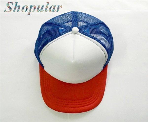 Stranger Things Dustin HAT RED WHITE BLUE Trucker Baseball Mesh Cap Adjustable Hat Costumes Cosplay 6