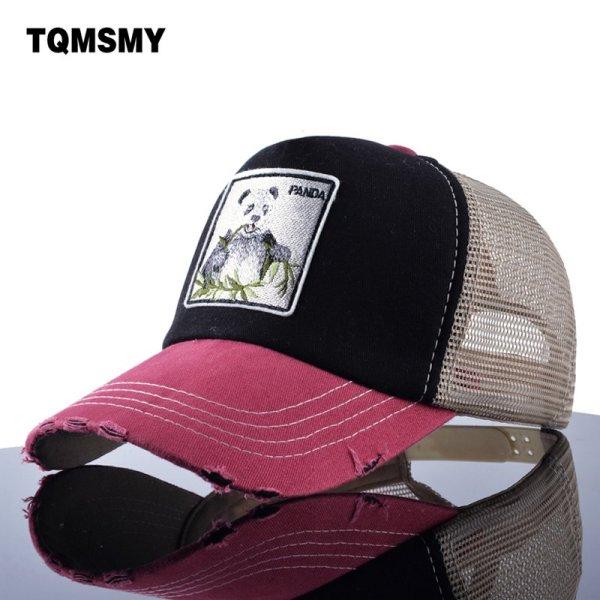 TQMSMY Unisex sun hats for men Hip Hop Hat Breathable Mesh Baseball Caps Women Embroidery panda Snapback caps Summer Gorras 1