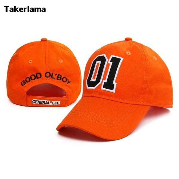 Takerlama New General Lee 01 Embroidered Cotton Twill Cap Hat Dukes of Hazzard Good OL' Boy Unisex Adult Applique Baseball Hat 1