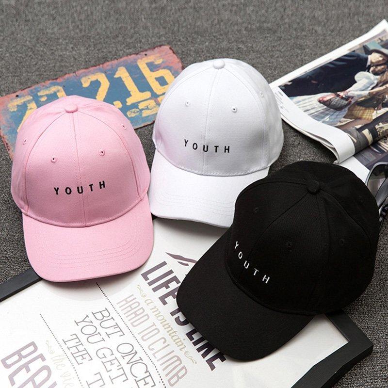 8a847423ac0 Unisex Letter Printed Solid Caps Men Women Ring Hip Hop Baseball Cap Cotton Snapback  Caps Hat ...