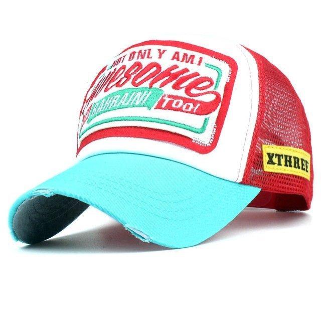 Xthree Summer Baseball Cap Embroidery Mesh Cap Hats For Men Women Snapback Gorras  Hombre hats Casual ... 017f74a90fcb