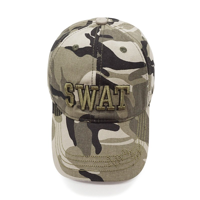 3a8160bb1e5 100% Cotton Tactical Cap Men Camouflage Baseball Caps Army SWAT Hat ...