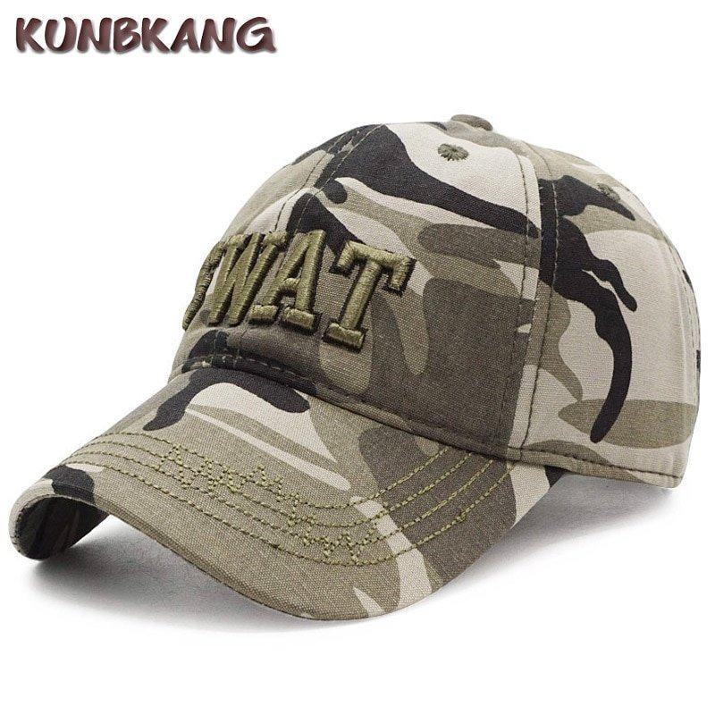 b1eade23 100% Cotton Tactical Cap Men Camouflage Baseball Caps Army SWAT Hat ...
