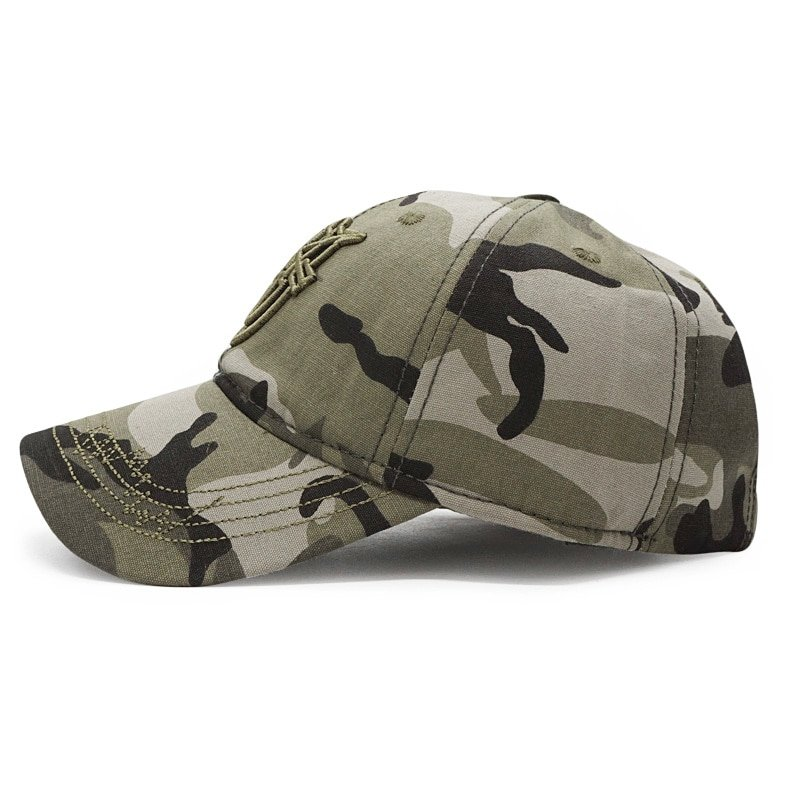 bcea3f75325 2018 New Army Cap Camo Baseball Caps Men Camouflage Snapback Hats ...