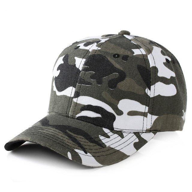0fb225eeeb5 2018 Snow Camo Baseball Cap Men Tactical Cap Camouflage Snapback Hat ...