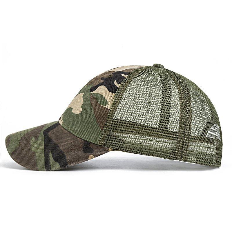2cacd46e540 Evrfelan Camo Mesh Baseball Cap Men Camouflage Caps Masculino Summer ...