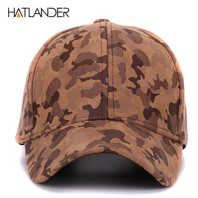 HATLANDER Brand Suede camouflage baseball caps for women mens ... af9be4d33bc2