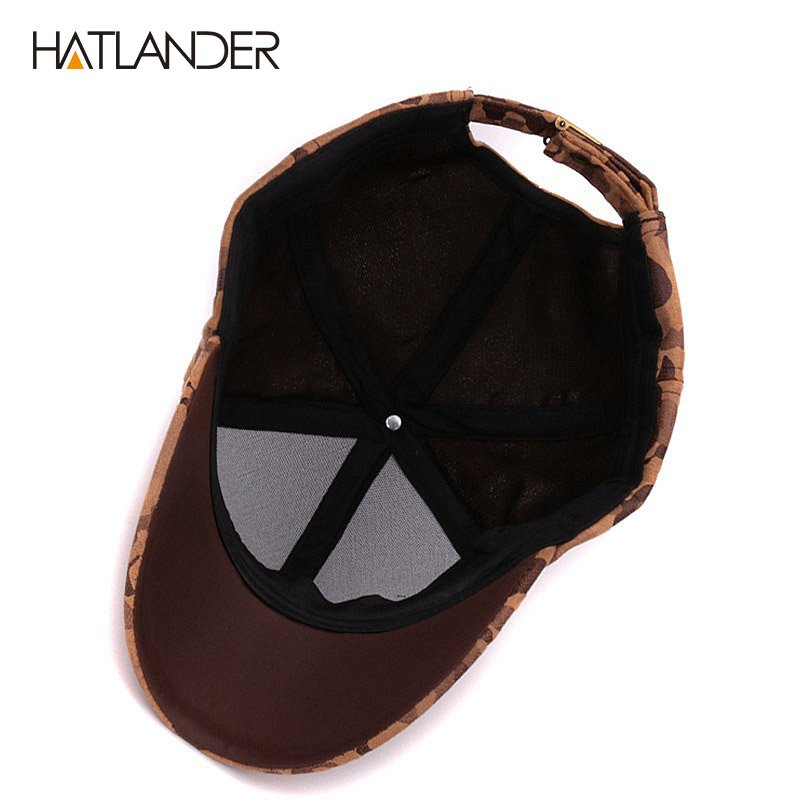 df8ca023744 HATLANDER Brand Suede camouflage baseball caps for women mens ...
