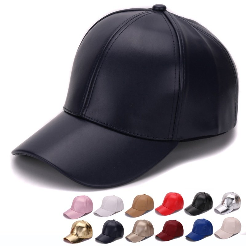 bd23d706045 HATLANDER Classic Plain PU baseball cap fashion blank no logo leather cap  and hat for men and women. Sale! 🔍. https   capshop.store