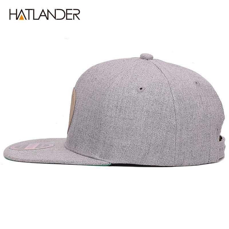 831450a7 HATLANDER]Maple solid cotton snapback caps women's flat brim hip hop ...