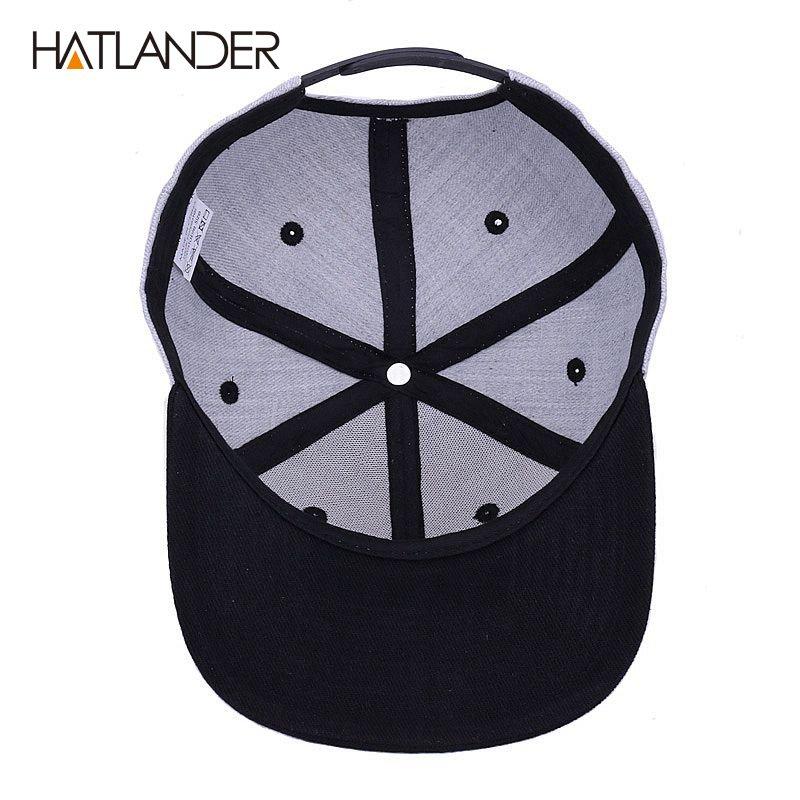 HATLANDER Original grey cool hip hop cap men women hats vintage ... 17bb75adf64