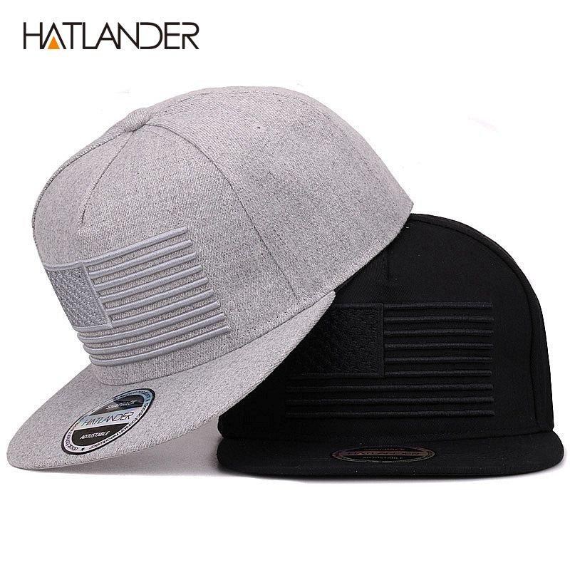 45de4cd1712 Hatlander raised flag embroidery cool flat bill baseball cap mens jpg  800x800 Flat baseball hats