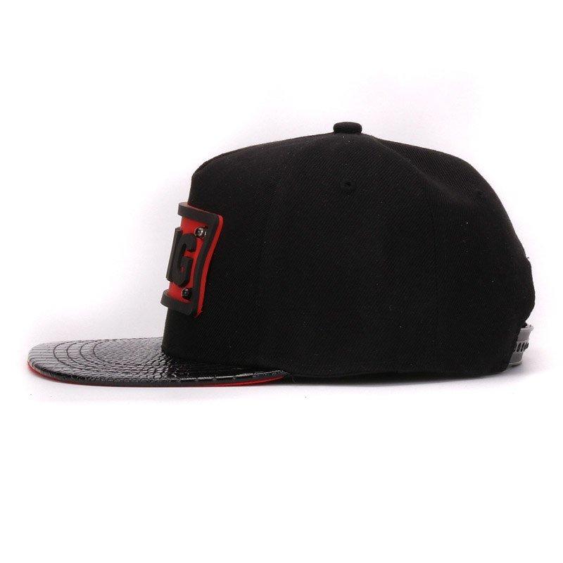 c55d618b7ac HATLANDER adult pu alligator leather flat bill hip hop hats 3D KING ...